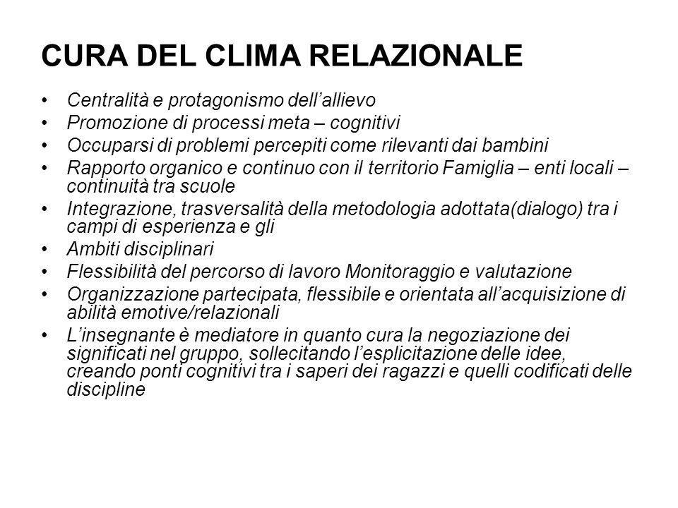 CURA DEL CLIMA RELAZIONALE