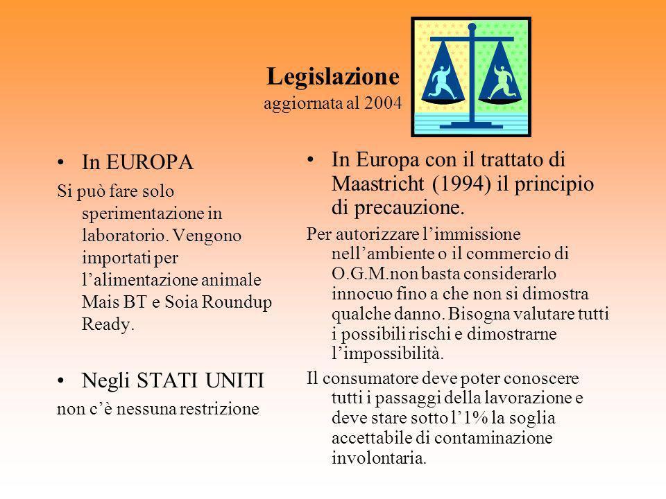 Legislazione aggiornata al 2004