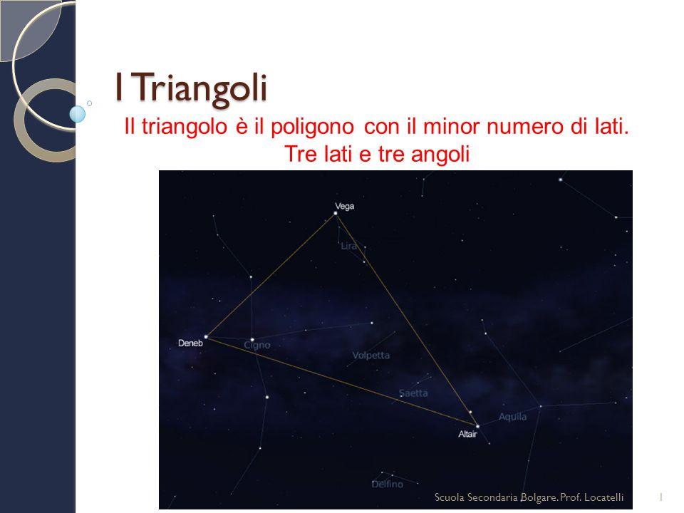 Il triangolo è il poligono con il minor numero di lati.