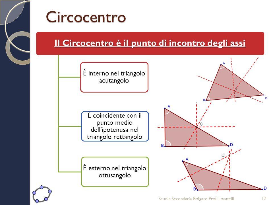 Il Circocentro è il punto di incontro degli assi