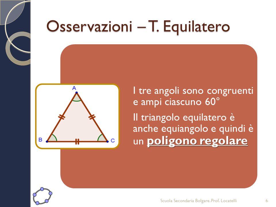 Osservazioni – T. Equilatero