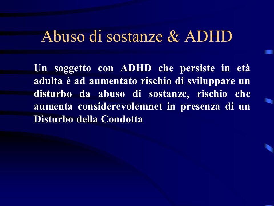 Abuso di sostanze & ADHD