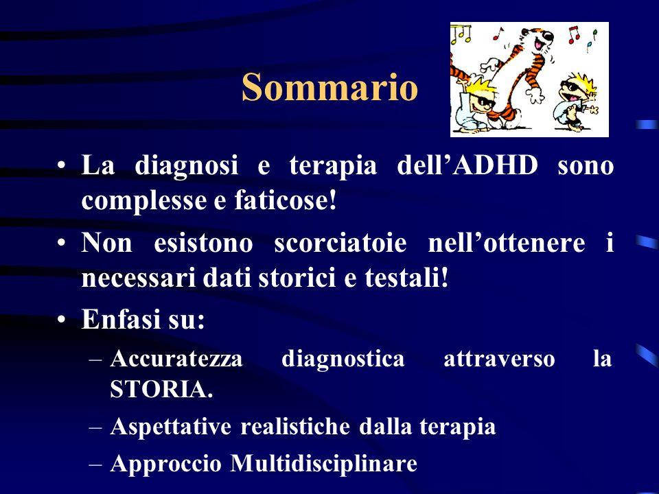 Sommario La diagnosi e terapia dell'ADHD sono complesse e faticose!