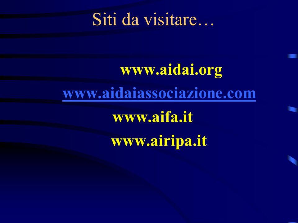 Siti da visitare… www.aidai.org www.aidaiassociazione.com www.aifa.it