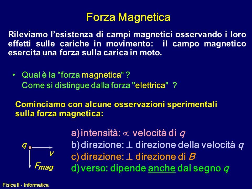 Forza Magnetica intensità: µ velocità di q