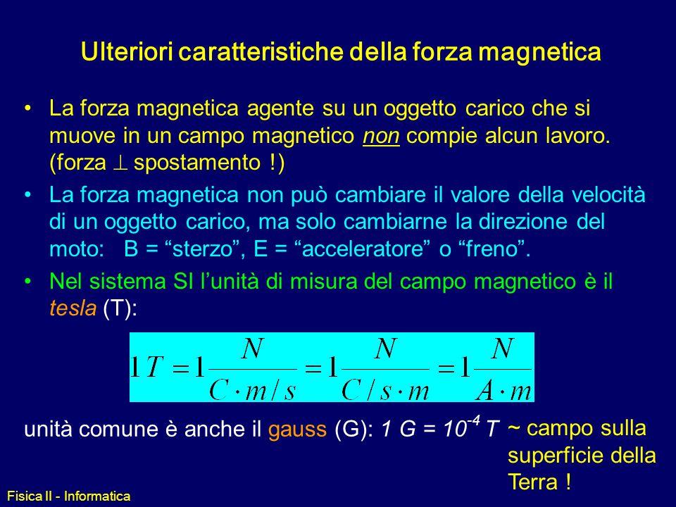 Ulteriori caratteristiche della forza magnetica