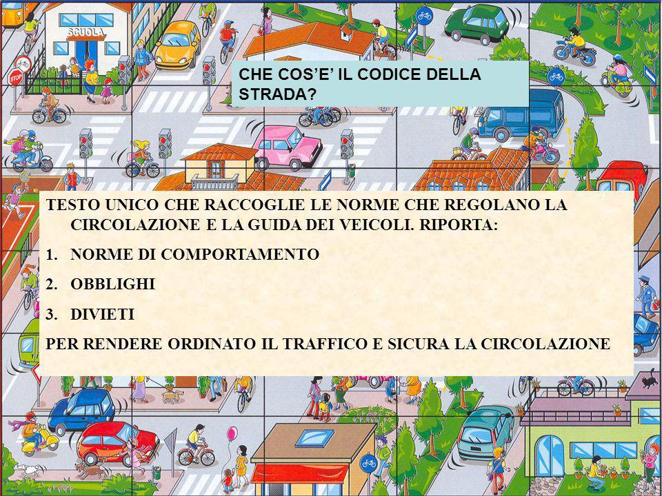 CHE COS'E' IL CODICE DELLA STRADA