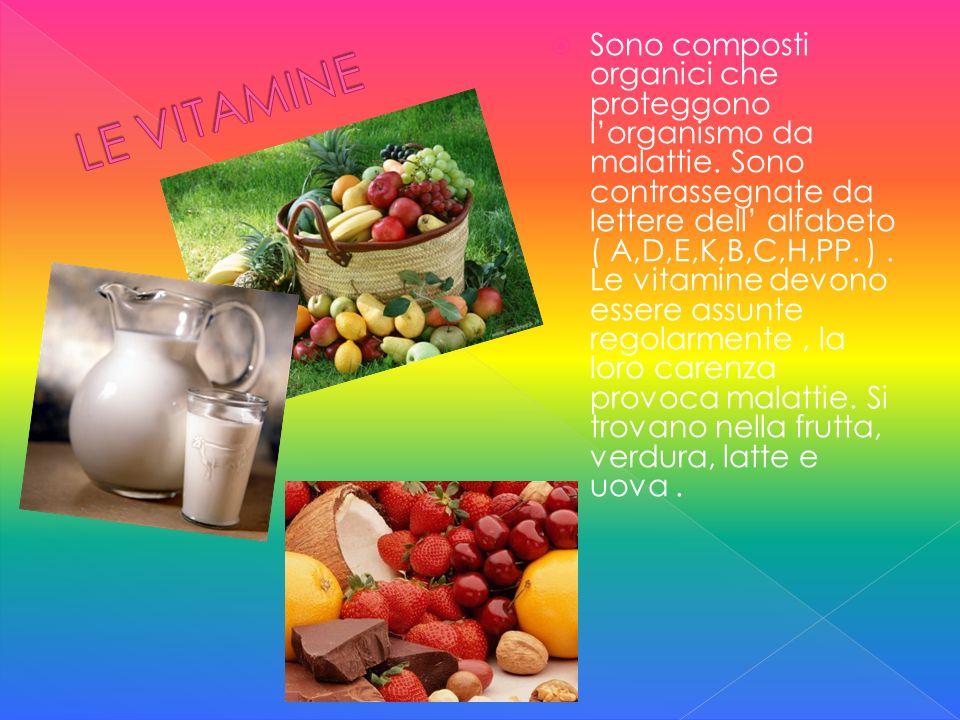 Sono composti organici che proteggono l'organismo da malattie
