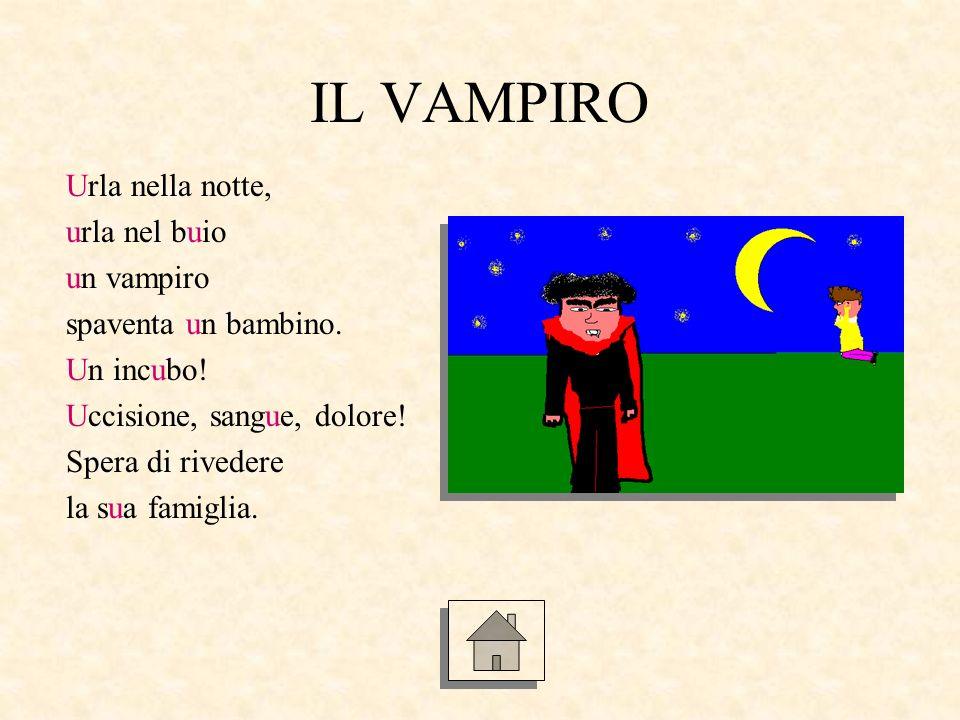 IL VAMPIRO Urla nella notte, urla nel buio un vampiro
