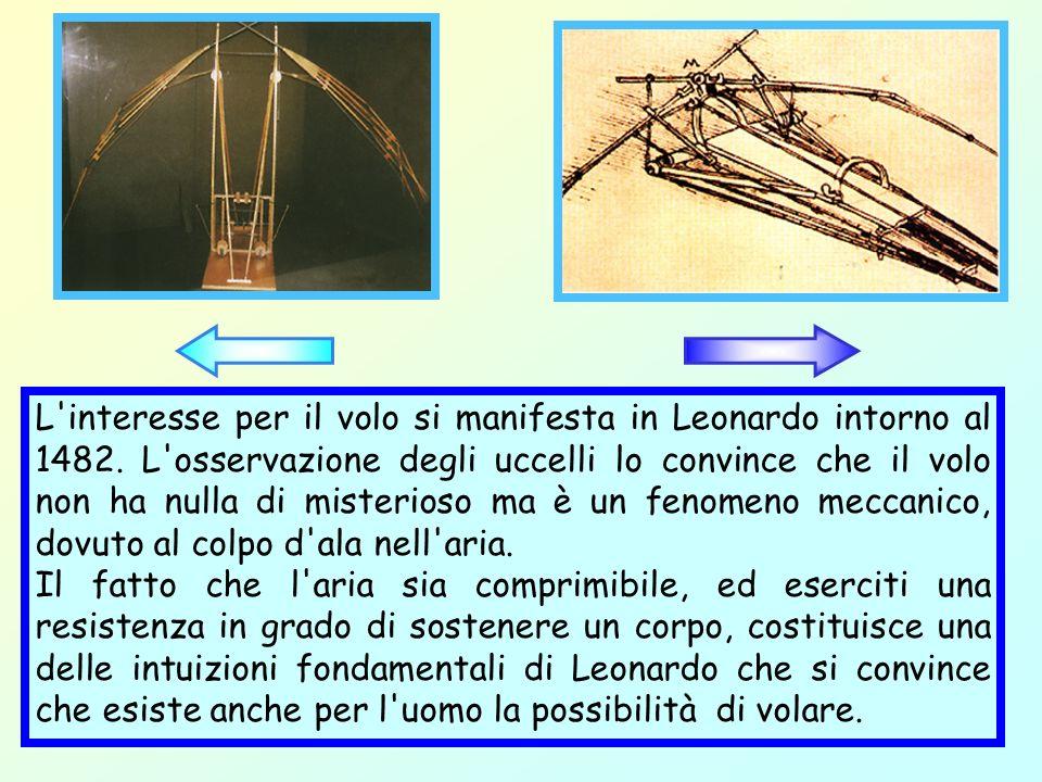 L interesse per il volo si manifesta in Leonardo intorno al 1482