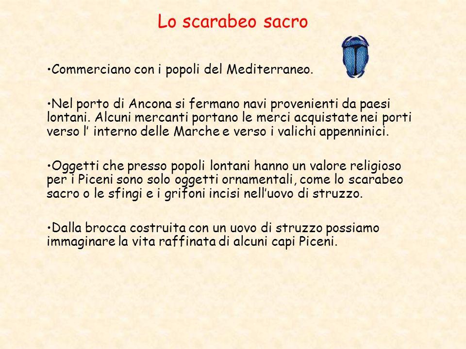 Lo scarabeo sacro Commerciano con i popoli del Mediterraneo.