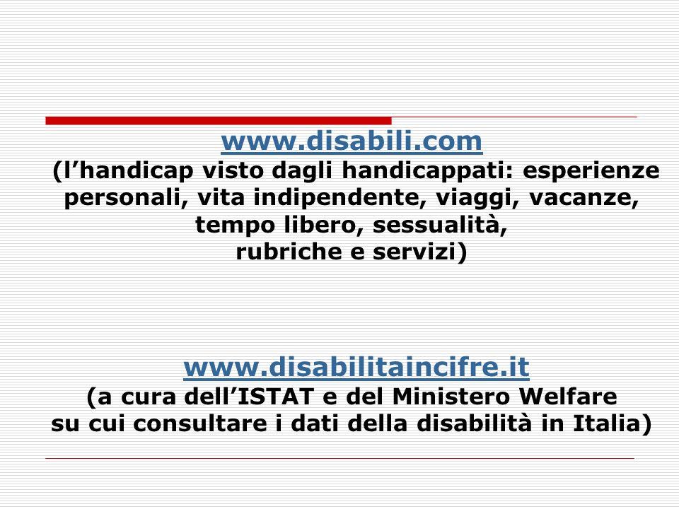 su cui consultare i dati della disabilità in Italia)