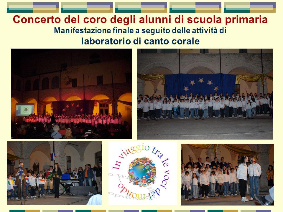Concerto del coro degli alunni di scuola primaria