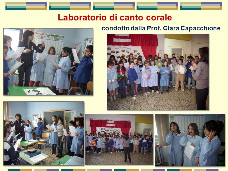 Laboratorio di canto corale condotto dalla Prof. Clara Capacchione