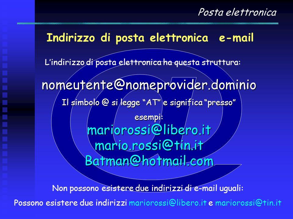 Indirizzo di posta elettronica e-mail