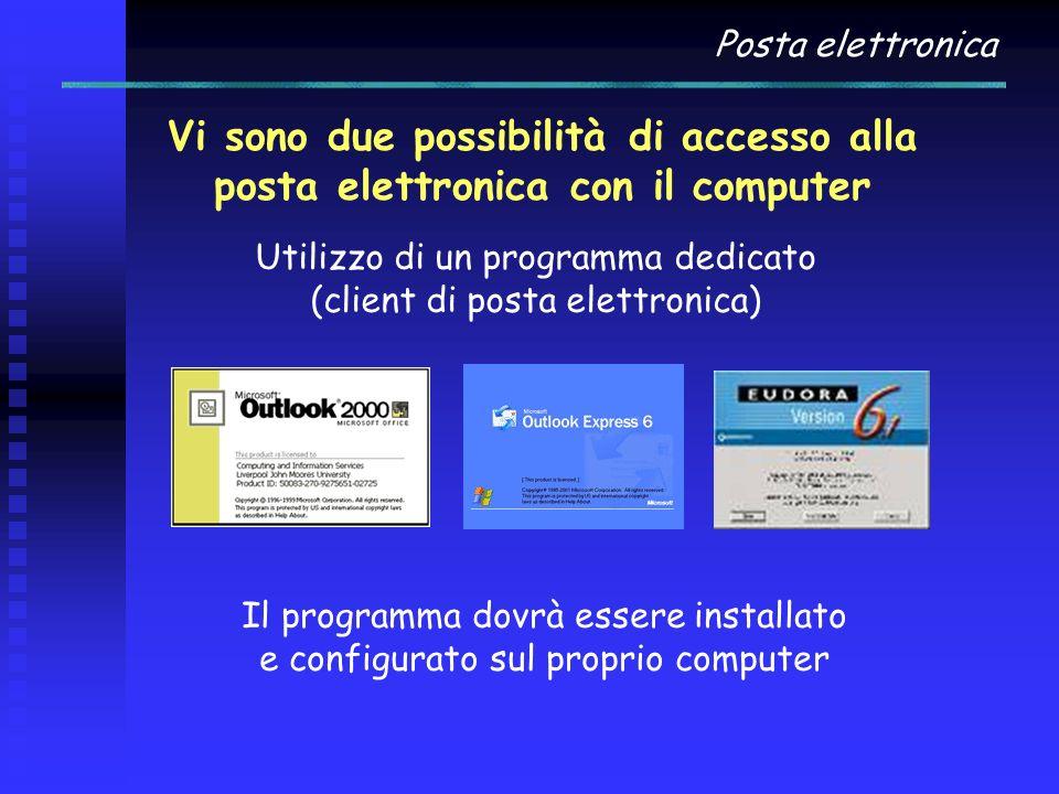 Utilizzo di un programma dedicato (client di posta elettronica)