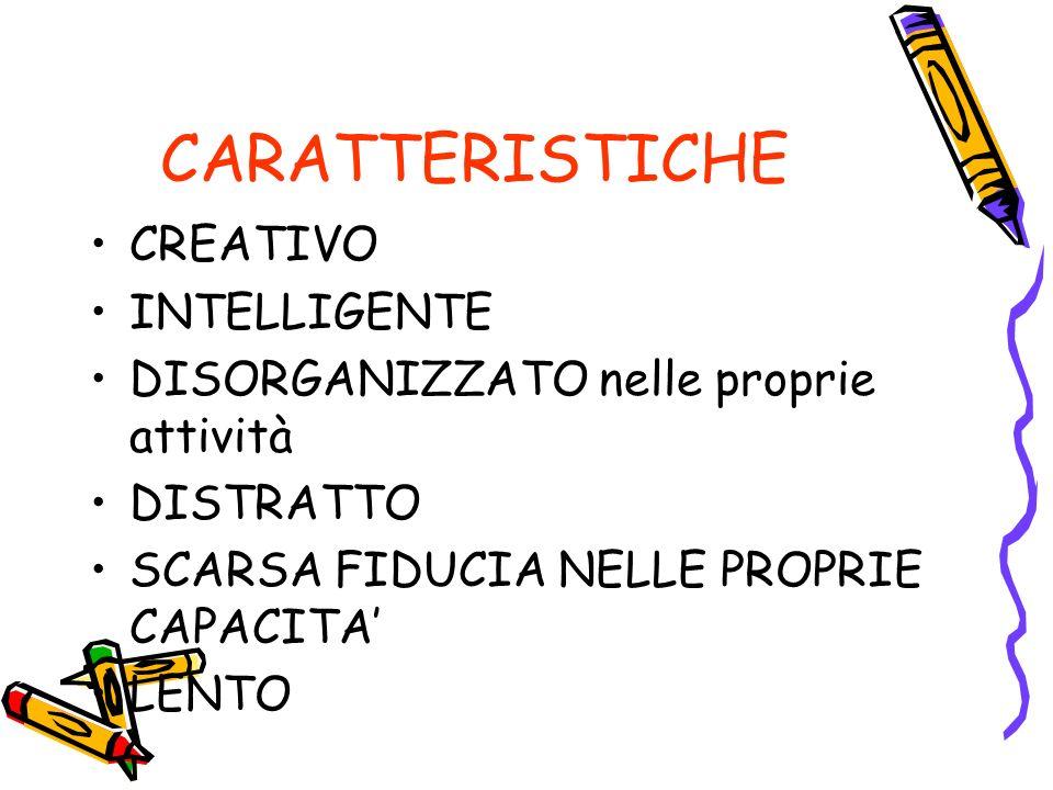 CARATTERISTICHE CREATIVO INTELLIGENTE