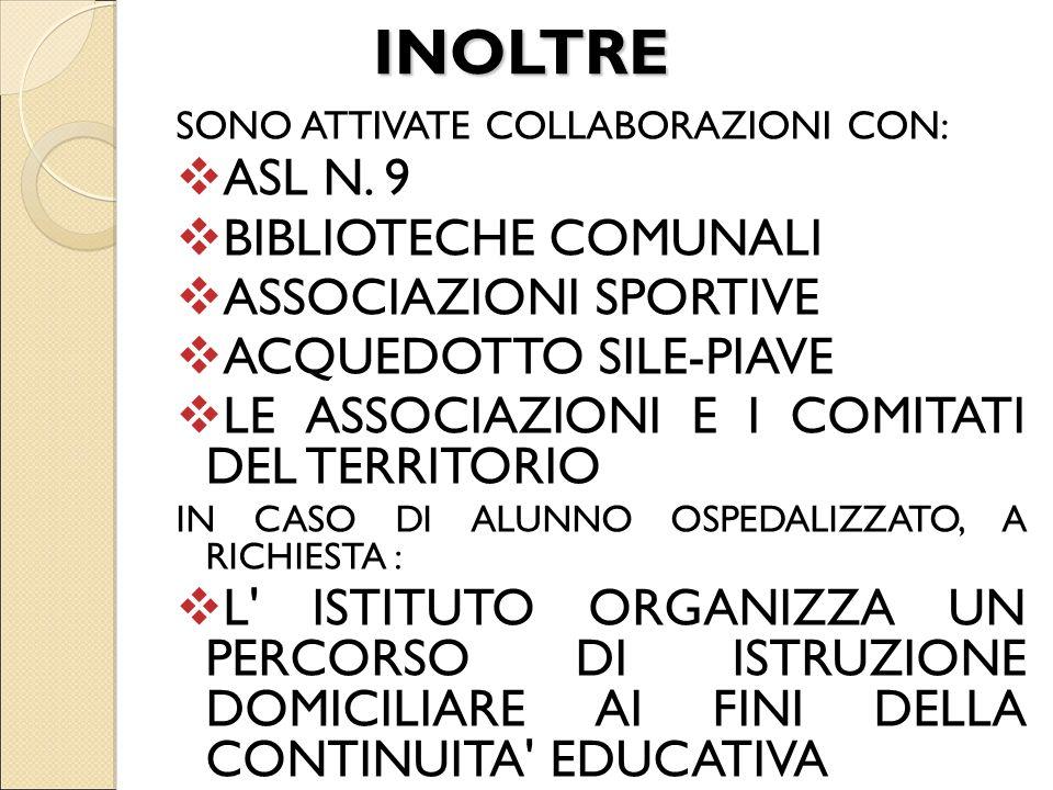 INOLTRE ASL N. 9 BIBLIOTECHE COMUNALI ASSOCIAZIONI SPORTIVE