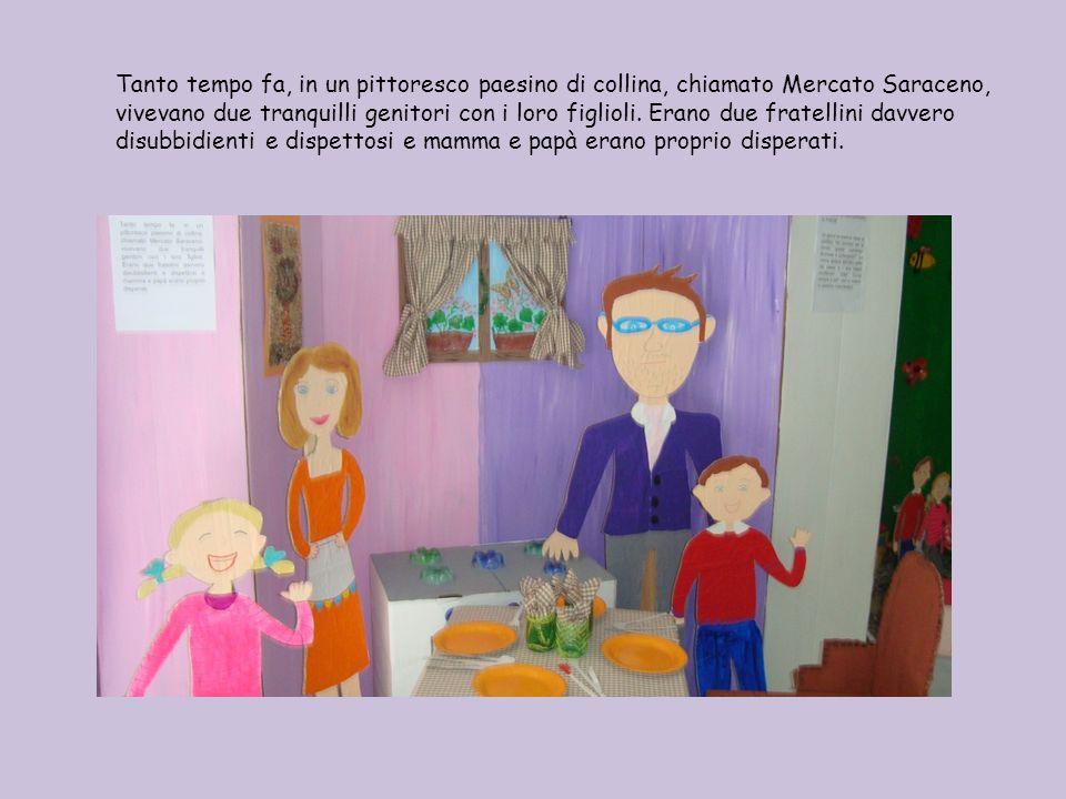 Tanto tempo fa, in un pittoresco paesino di collina, chiamato Mercato Saraceno, vivevano due tranquilli genitori con i loro figlioli.