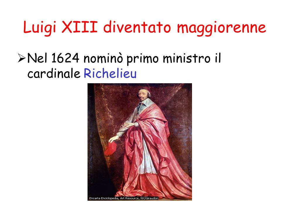 Luigi XIII diventato maggiorenne