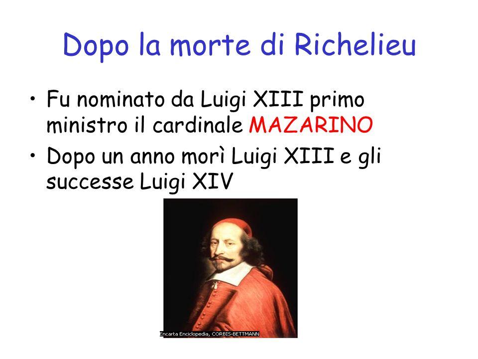 Dopo la morte di Richelieu
