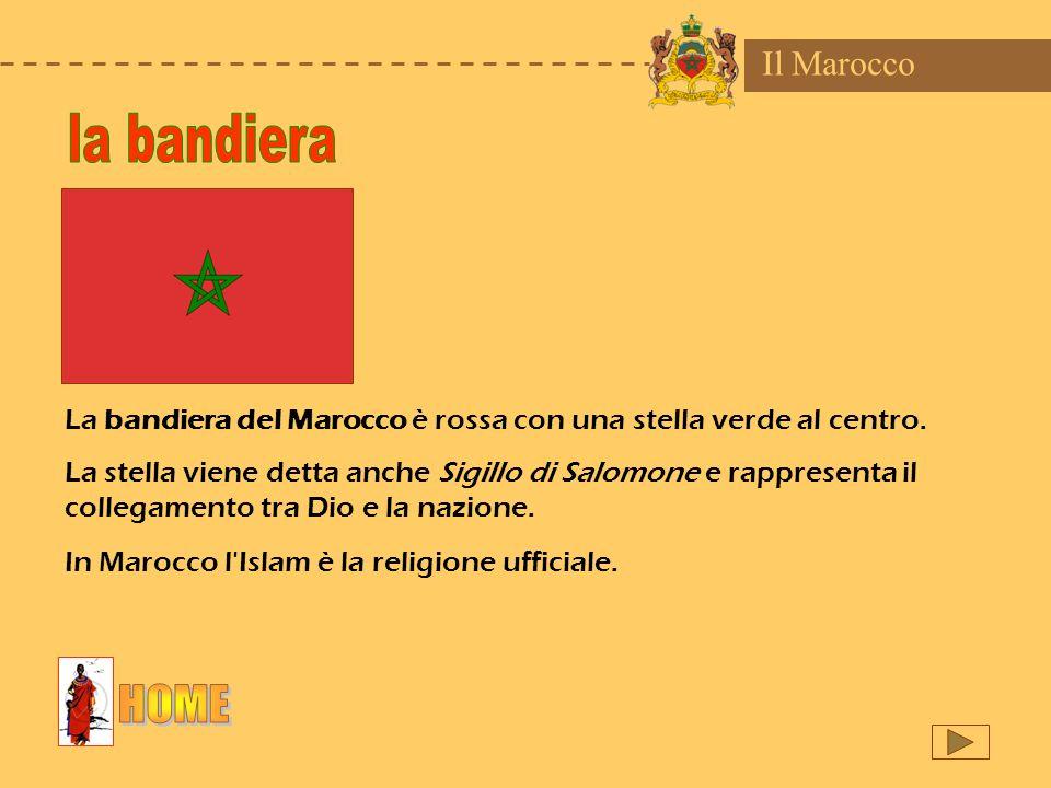 la bandiera HOME Il Marocco
