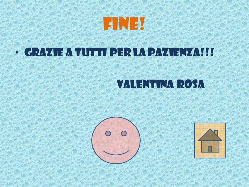 Fine! Grazie a tutti per la pazienza!!! Valentina Rosa