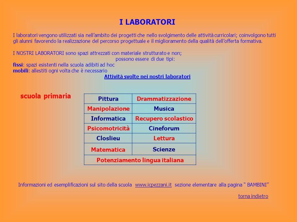 Potenziamento lingua italiana