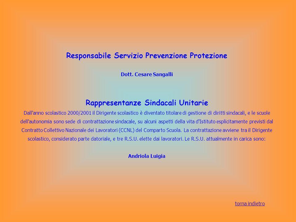 Responsabile Servizio Prevenzione Protezione