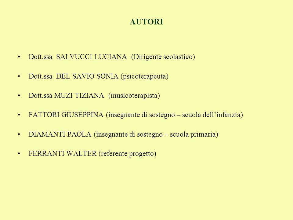 AUTORI Dott.ssa SALVUCCI LUCIANA (Dirigente scolastico)