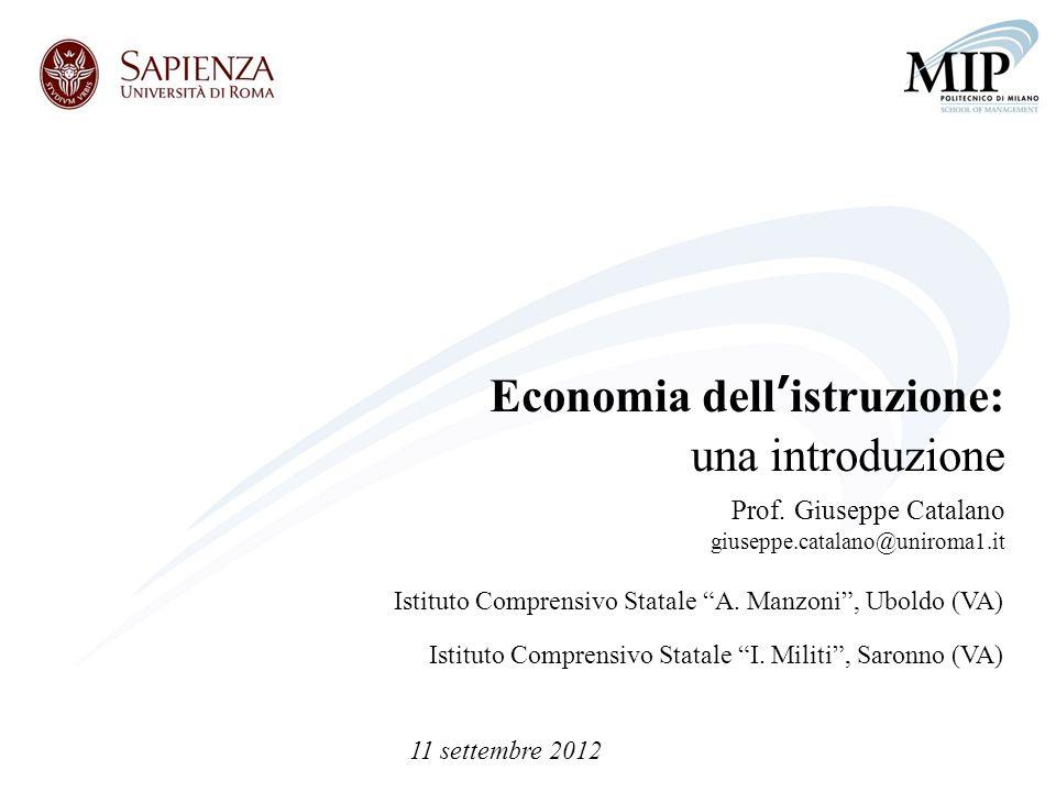 Economia dell'istruzione: una introduzione
