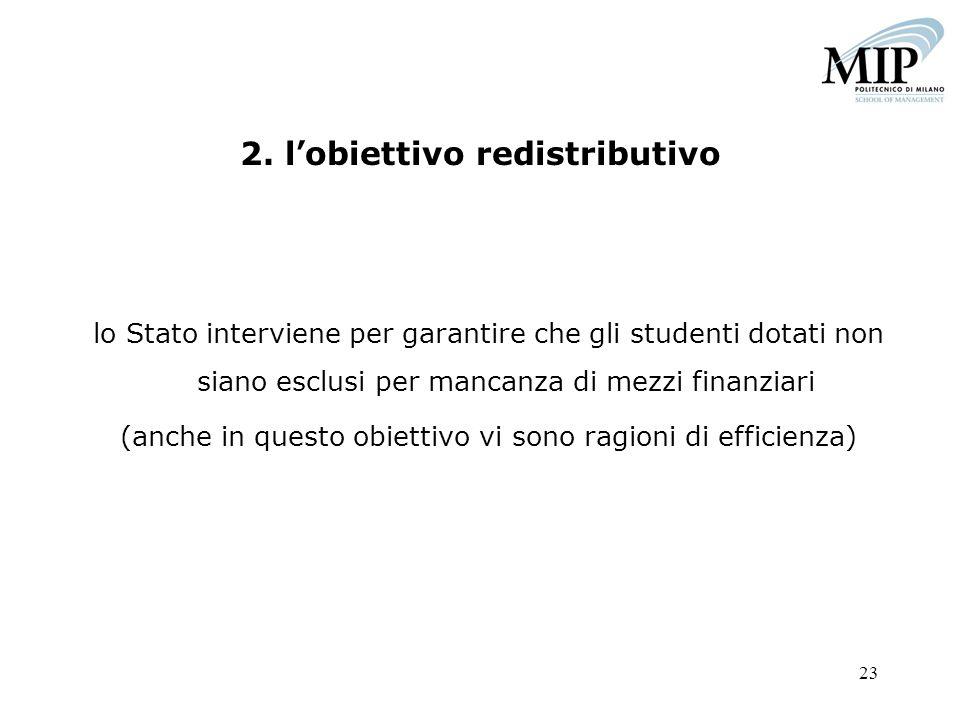 2. l'obiettivo redistributivo