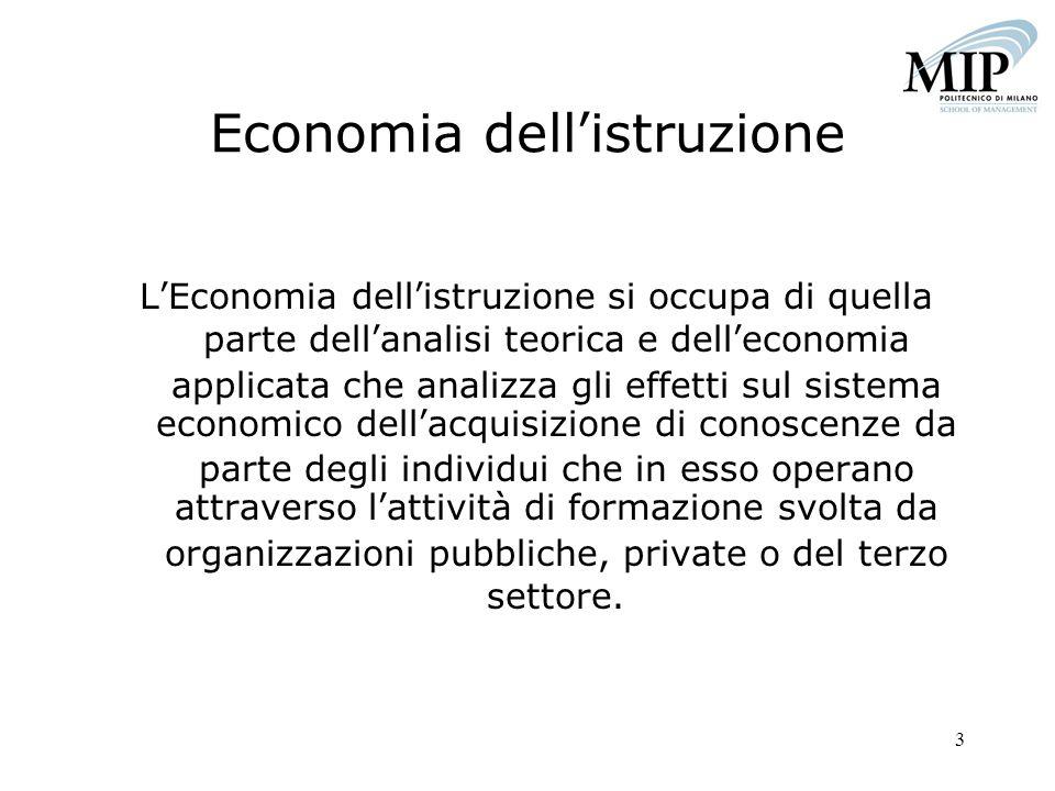 Economia dell'istruzione