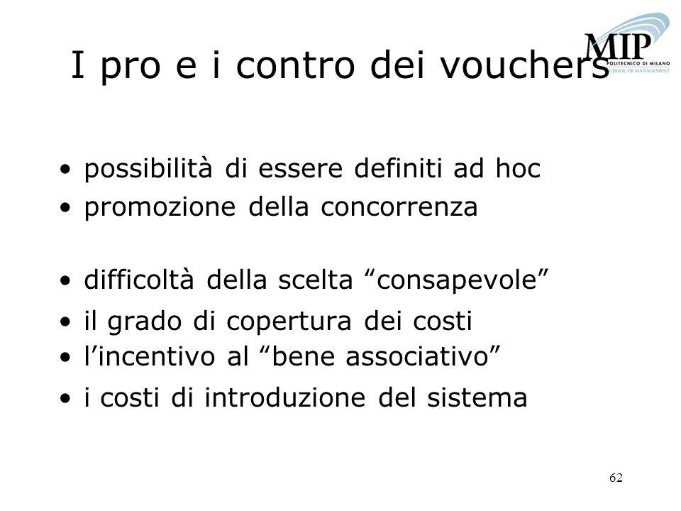 I pro e i contro dei vouchers