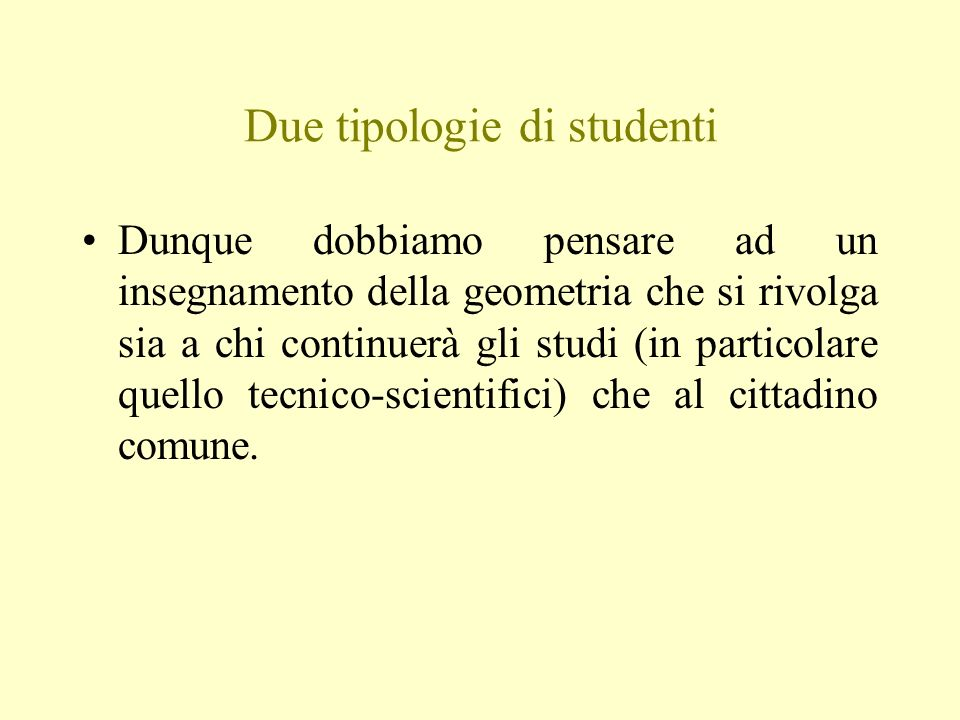 Due tipologie di studenti
