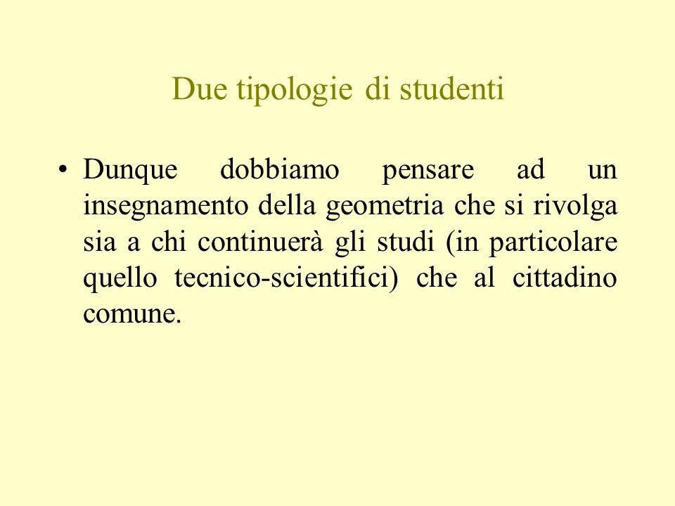 Due tipologie di studenti
