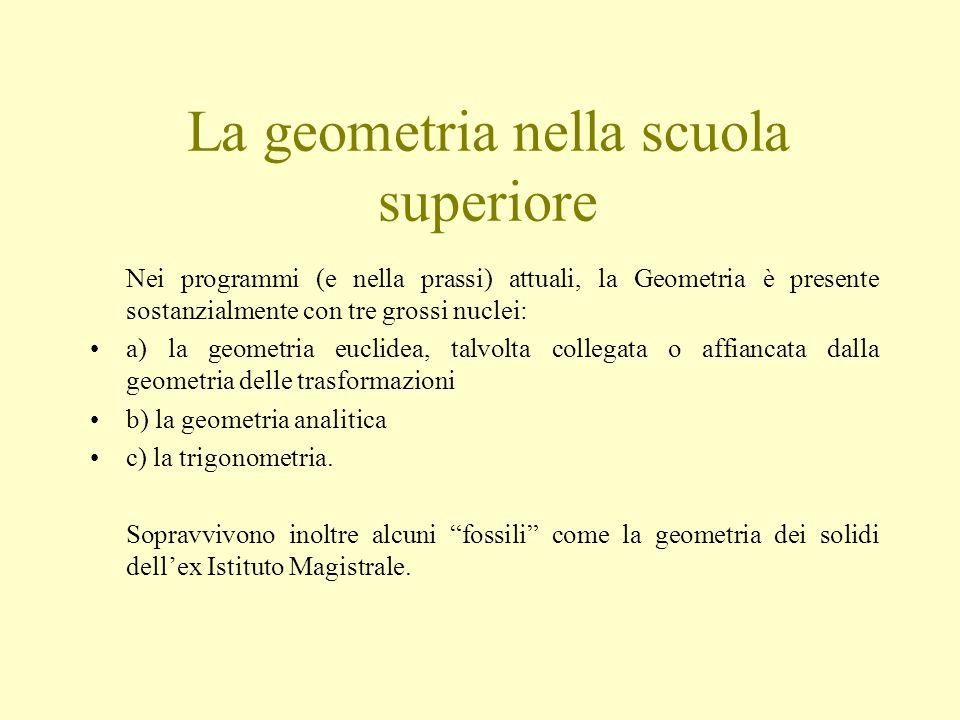 La geometria nella scuola superiore