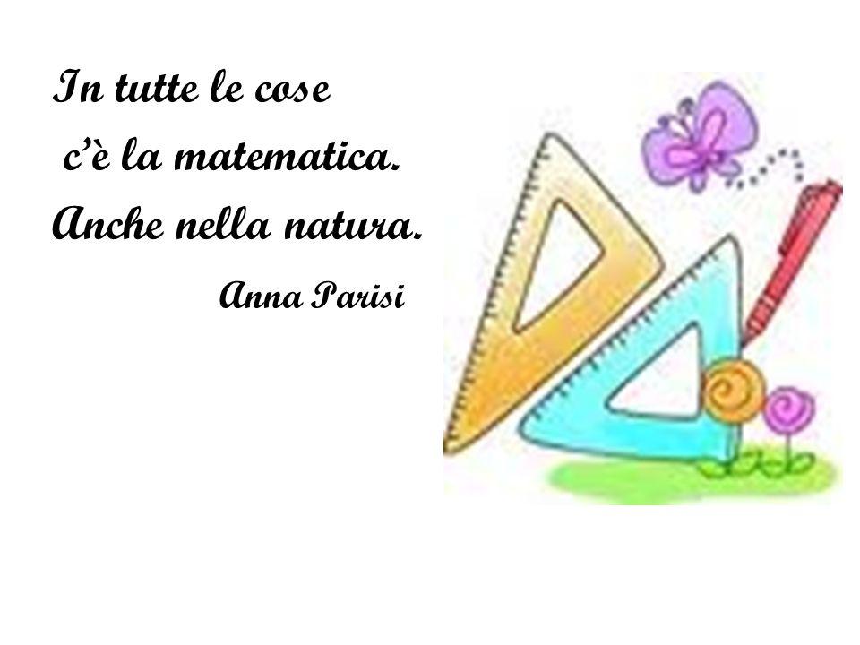 In tutte le cose c'è la matematica. Anche nella natura. Anna Parisi
