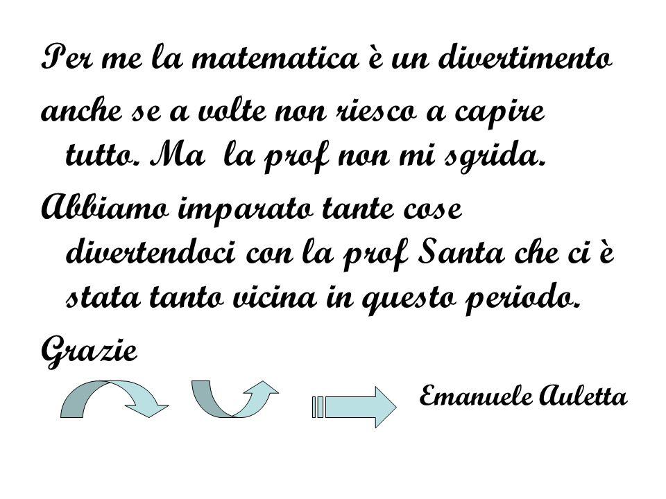 Per me la matematica è un divertimento