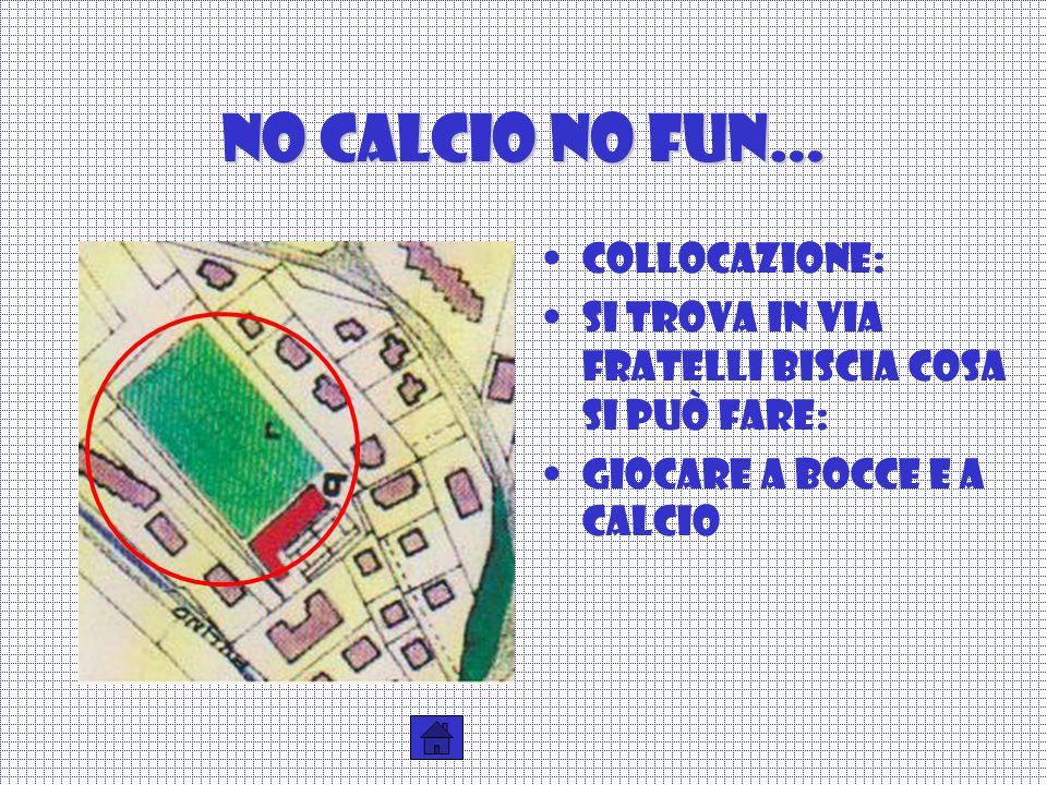 No calcio no fun… Collocazione: