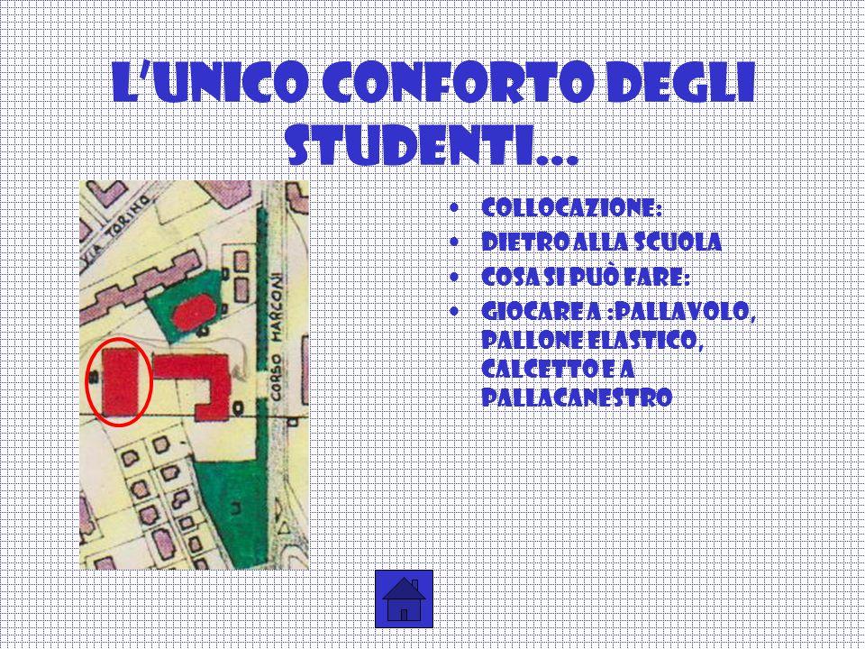 L'unico conforto degli studenti…