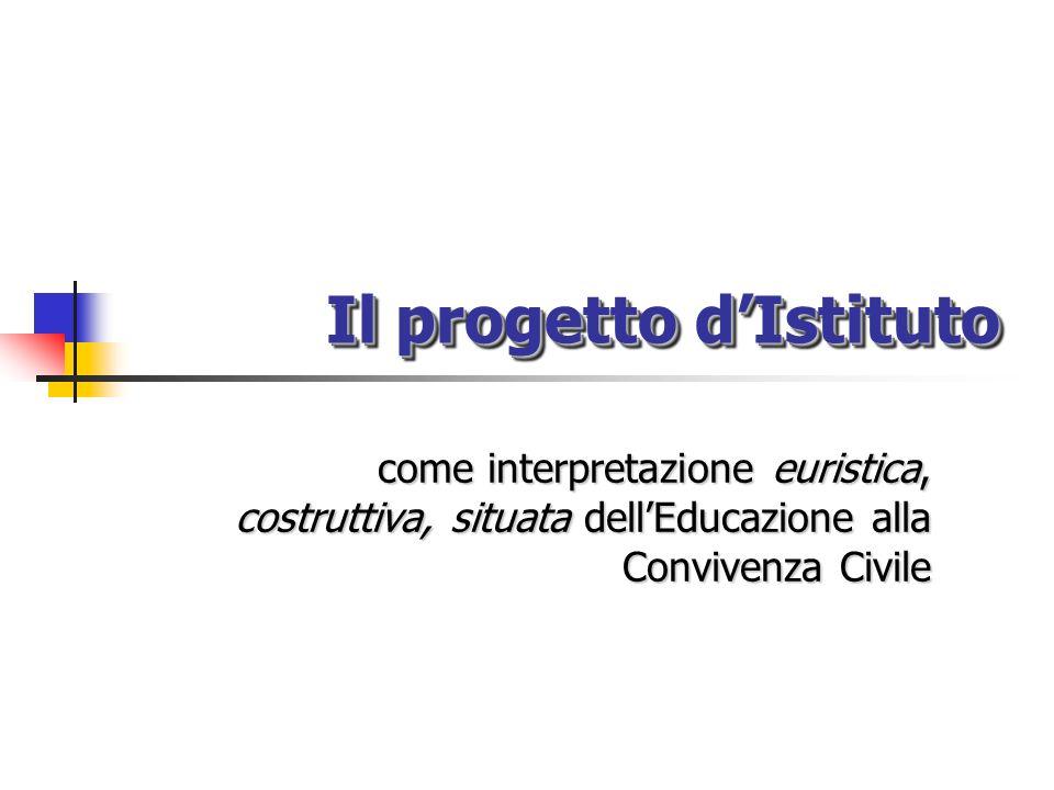 Il progetto d'Istituto