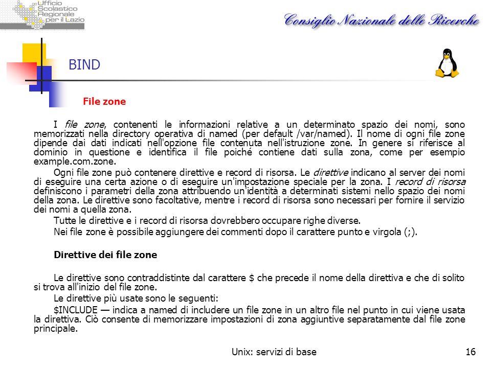 BIND File zone.