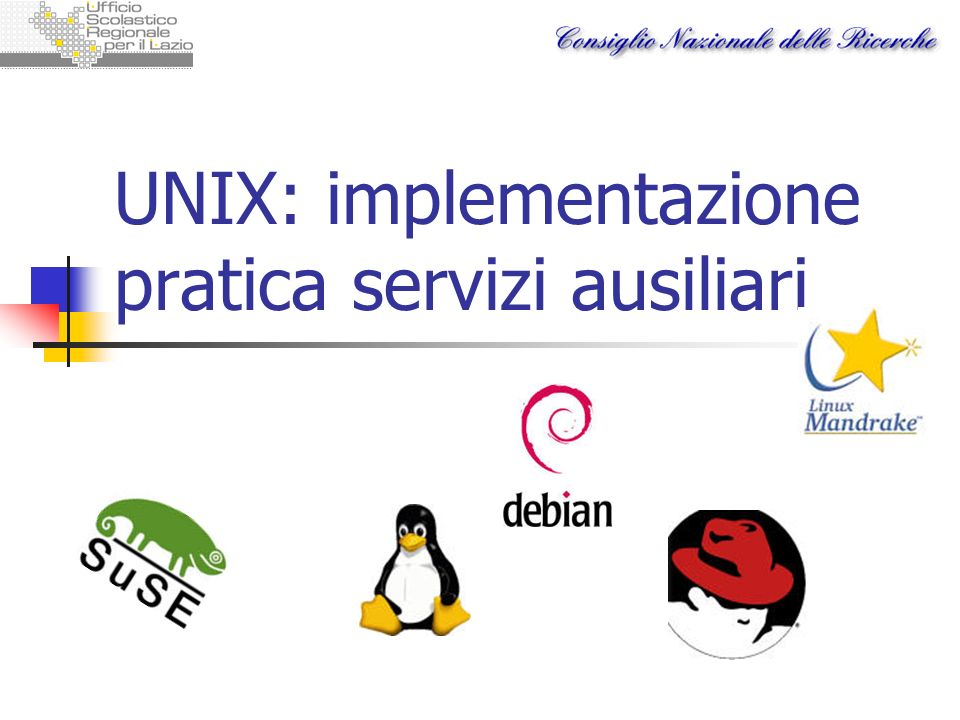 UNIX: implementazione pratica servizi ausiliari