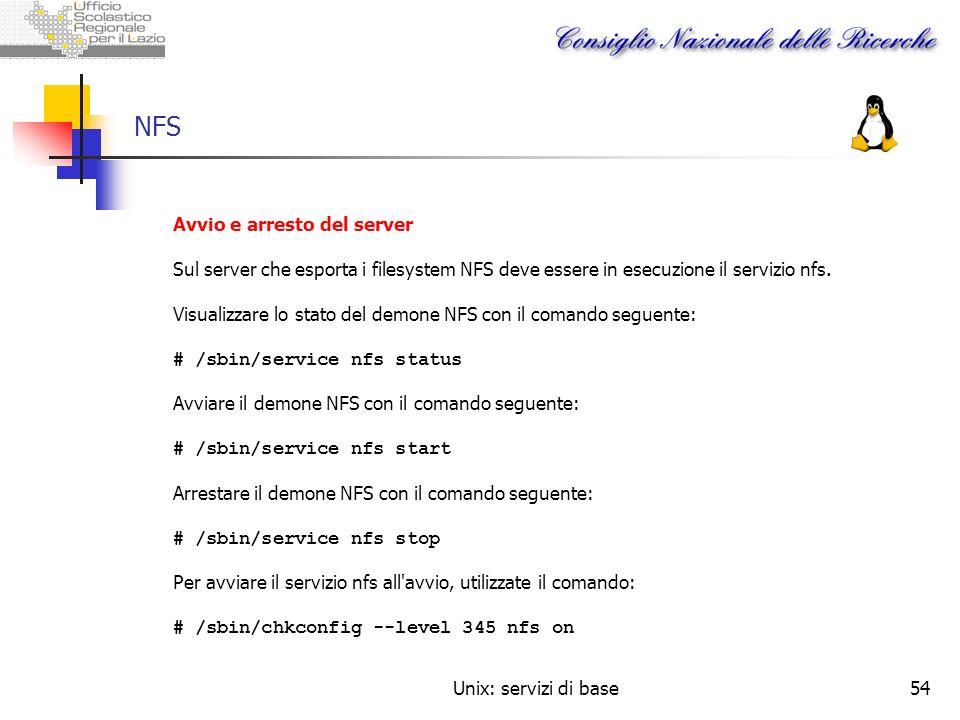 NFS Avvio e arresto del server