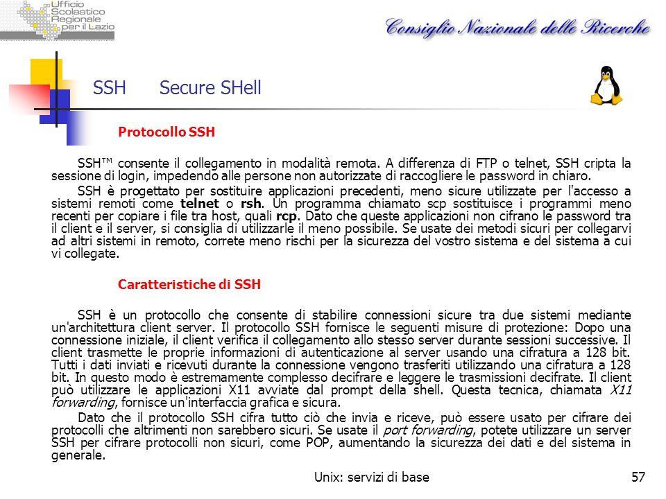 SSH Secure SHellProtocollo SSH.
