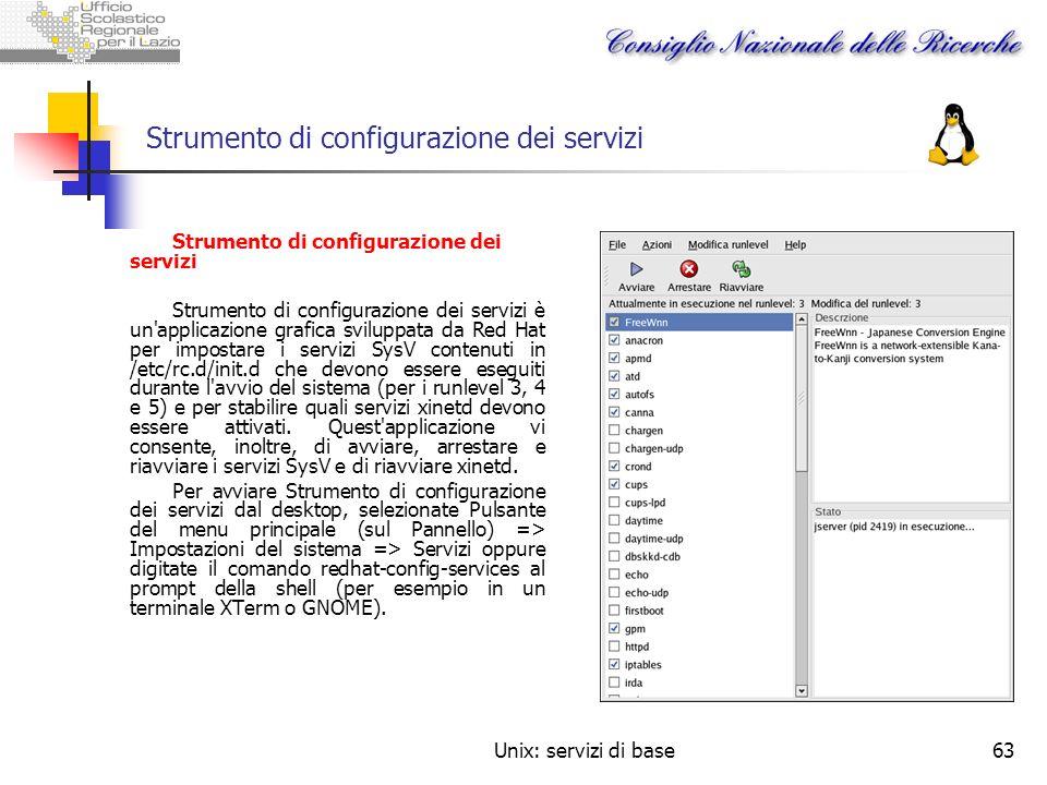 Strumento di configurazione dei servizi
