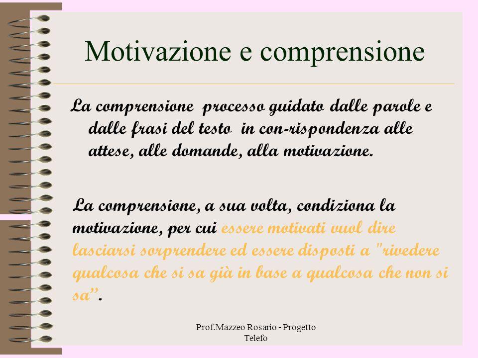 Motivazione e comprensione