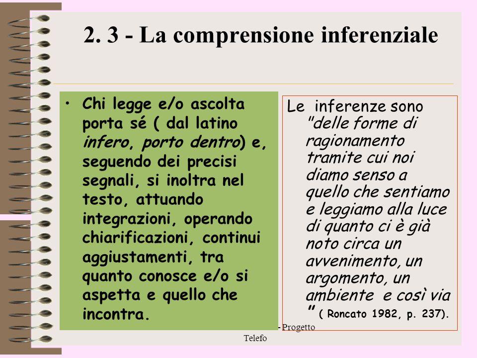 2. 3 - La comprensione inferenziale