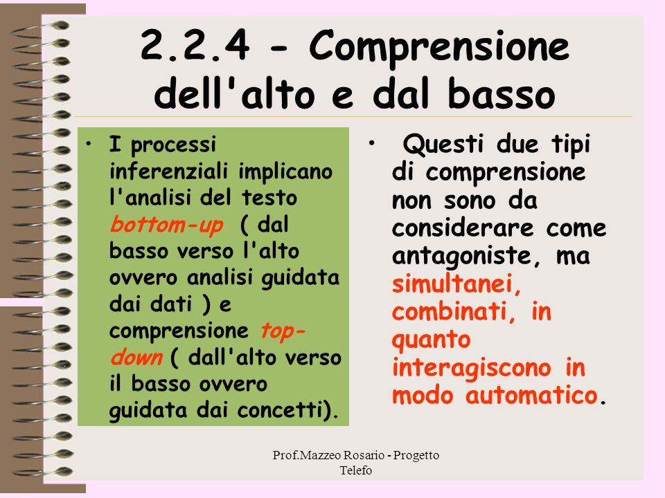 2.2.4 - Comprensione dell alto e dal basso